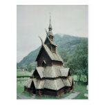 View of Borgund stave church, c.1150 Post Card