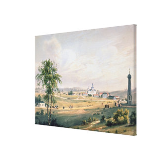 View of Borodino, location of the decisive Stretched Canvas Print