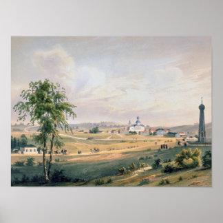 View of Borodino, location of the decisive Poster