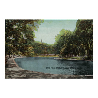 View of Boston Common Frog Pond # 2 Poster