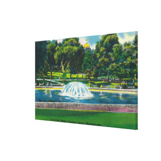 View of Boston Common Frog Pond Canvas Print
