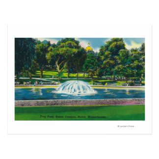 View of Boston Common Frog Pond Postcard