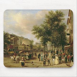 View of Boulevard Montmartre, Paris, 1830 Mouse Pad