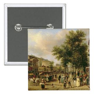 View of Boulevard Montmartre, Paris, 1830 Pinback Button