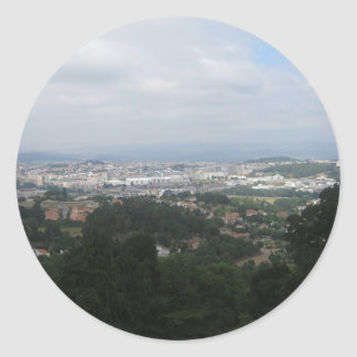 View of Braga Classic Round Sticker