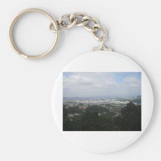 View of Braga Basic Round Button Keychain