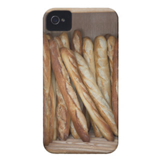 view of bread loaves in bakery window display iPhone 4 Case-Mate case