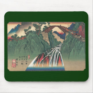 View of Bridge Over Ina River, Nojiri by Hiroshige Mouse Pad