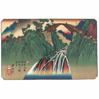 View of Bridge Over Ina River, Nojiri by Hiroshige Statuette