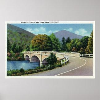 View of Bridge over the Deerfield River Poster
