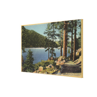 View of Bridle Path near the Dam Stretched Canvas Prints