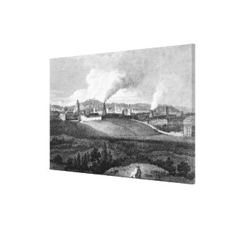 View of Bristol from Pile Hill, engraved by Canvas Print