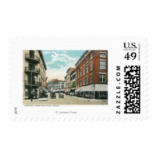 View of Broadway and Corner Strand Street Stamps