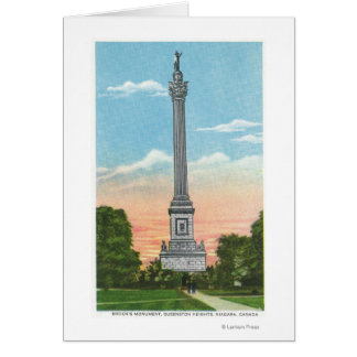 View of Brock's Monument Card