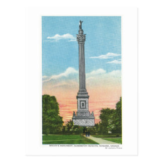 View of Brock's Monument Postcard