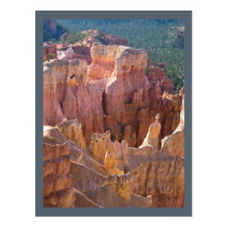 View of Bryce Canyon with Pastel Hoodoos Postcard