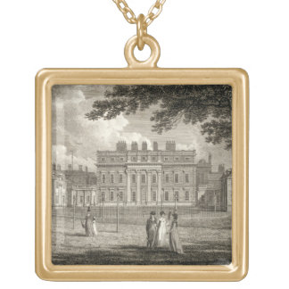 View of Buckingham House, engraved by W. Knight, p Square Pendant Necklace