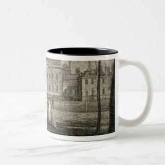 View of Buckingham House, engraved by W. Knight, p Two-Tone Coffee Mug