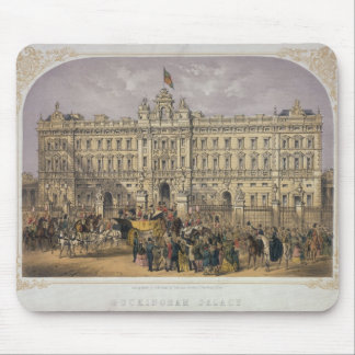 View of Buckingham Palace with a Crowd Outside Mouse Pad