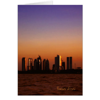 View of Buenos Aires at sunset Cards