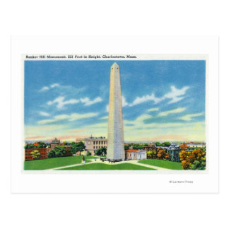 View of Bunker Hill Monument Postcard