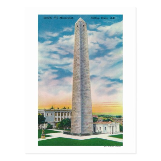 View of Bunker Hill Monument Post Card