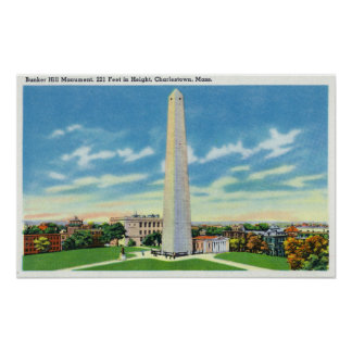 View of Bunker Hill Monument Poster
