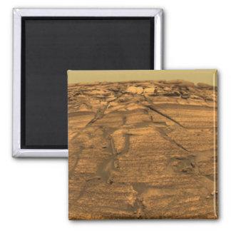 View of Burns Cliff on Mars Fridge Magnets