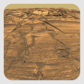 View of Burns Cliff on Mars Square Sticker