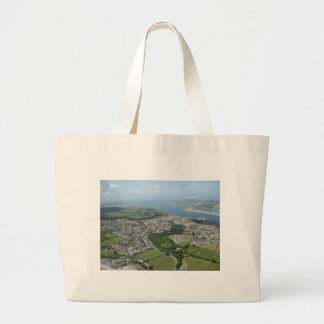 View of Caernarfon and Anglesea Large Tote Bag