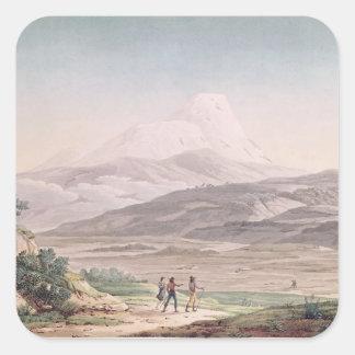 View of Cajambe Square Sticker