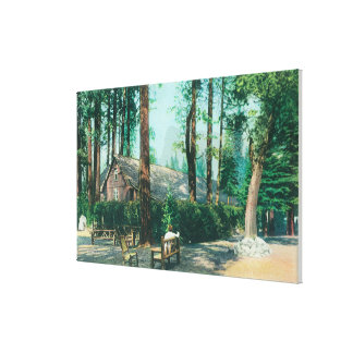 View of Camp Curry Open Air Dining Room Canvas Print