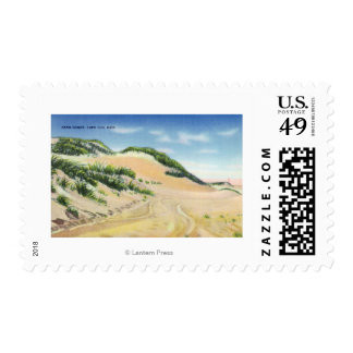View of Cape Cod Sand Dunes Postage
