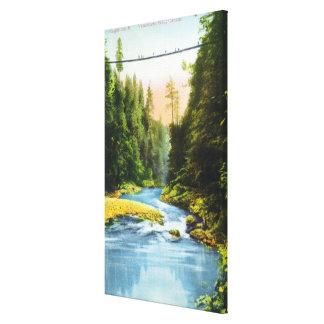 View of Capilano Suspension Bridge # 2 Canvas Print