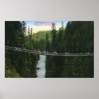 View of Capilano Suspension Bridge Poster