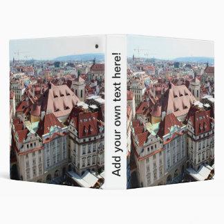 View of capital city of Prague in Czech Republic 3 Ring Binder