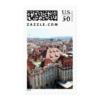 View of capital city of Prague in Czech Republic Postage