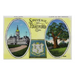 View of Capitol Bldg and Oak Tree Poster