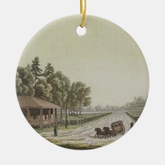 View of Capitol Hill, Washington (colour engraving Ceramic Ornament