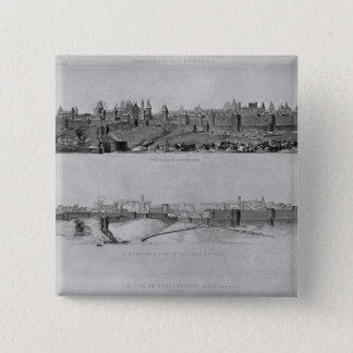 View of Carcassonne from the west side Pinback Button