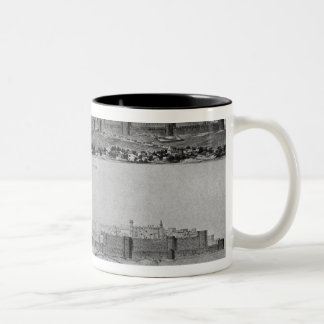 View of Carcassonne from the west side Two-Tone Coffee Mug