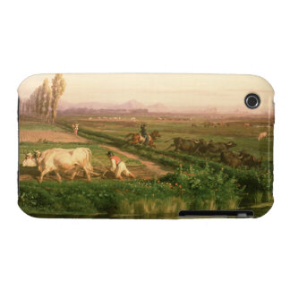 View of Carditello (oil on canvas) iPhone 3 Case
