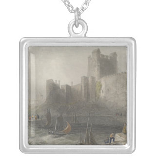 View of Carrifergus Castle Silver Plated Necklace