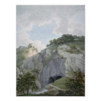 View of Castle and Cavern at Castelton Poster
