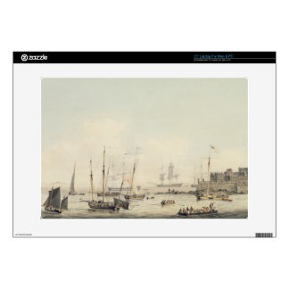 "View of Castle Cornet, Guernsey, with Shipping, c. 15"" Laptop Decal"