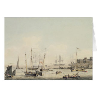 View of Castle Cornet, Guernsey, with Shipping, c. Card