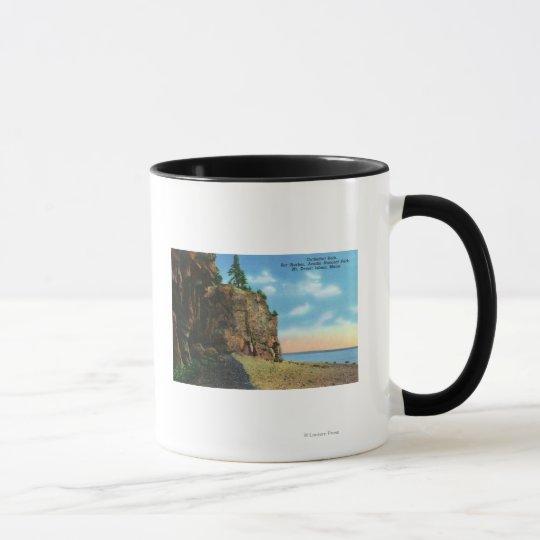 View of Cathedral Rock, Bar Harbor Mug