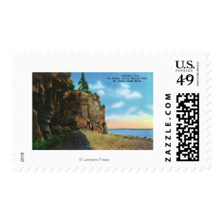 View of Cathedral Rock, Bar Harbor Stamp