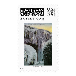 View of Cave of the Winds in Winter Postage Stamps