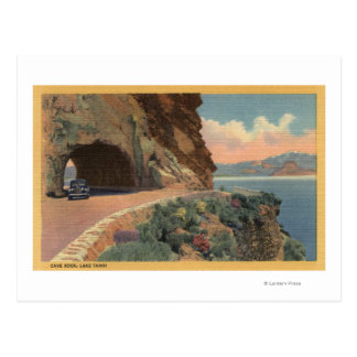 View of Cave Rock Tunnel from Hwy Postcard